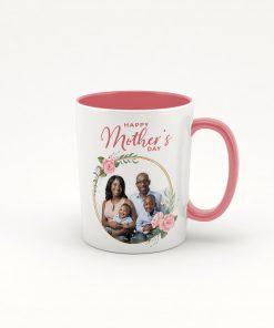 Pink coffee photo mug