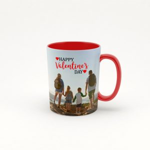 red coffee photo mug