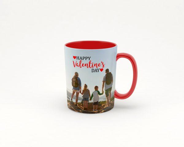 red coffee photo mug