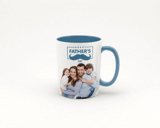 baby blue coffee photo mug